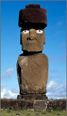 ile de paques Ancient Artefacts, Ancient Civilizations, Easter History, Easter Island Moai, Tiki Statues, Ancient Discoveries, Tiki Decor, Angel Images, Tree Carving