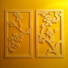I was bored one afternoon. Cut this out of foam board with an x-acto knife and I think it turned out quite pretty. It's now hanging in my half bath :) Diy Projects To Try, Crafts To Do, Craft Projects, Arts And Crafts, Craft Ideas, Motif Design, Art Classroom, Paper Art, Easy Diy