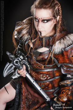 Photoshoot 2014 : Calimacil partnership 4 by Deakath.deviantart.com on @DeviantArt - Viking Makeup Idea. :)