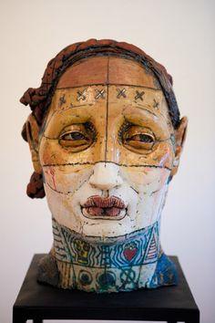 Kelly Garrett Rathbone  Warrior, 2012  ceramic, glazes, luster