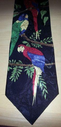 Vintage Rainforest Cafe Parrot Men's Tie 100% Silk Beautiful Tropical look! in Clothing, Shoes & Accessories, Men's Accessories, Ties | eBay