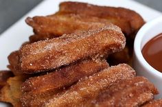 Easy Baked Churros- but I'd fry these instead. You don't bake churros.