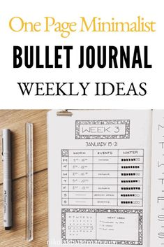 11 Minimalist Bullet Journal Weekly Spread Ideas - I love bullet journaling and I love creating beautiful spreads but sometimes I just don't have time to sit and draw up an elaborate layout. This list is perfect for when you are extremely short on time Borders Bullet Journal, Bullet Journal Weekly Spread Layout, Minimalist Bullet Journal Layout, Bullet Journal First Page, Goal Journal, Bullet Journal How To Start A, Bullet Journal Themes, Bullet Journal Inspiration, Journal Ideas