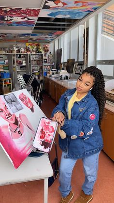 Art studio look Art Hoe, Black Women Art, Black Artists, Dope Art, Black Women Hairstyles, Protective Styles, Black Girl Magic, Art Studios, Art Pictures