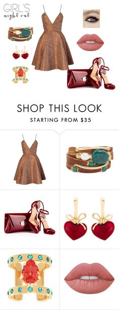 """""""Styled by Marijarich"""" by marijarogovic ❤ liked on Polyvore featuring Joana Almagro, Taylor and Tessier, KDIA, Maria Francesca Pepe, Lime Crime and girlsnightout"""