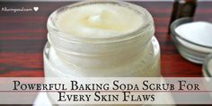 Baking soda scrub is an enemy of microbes and dirt that make our skin rough, irritated, & dark. It treats acne, razor bumps, blackheads, and hydrates skin.