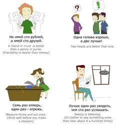 Very popular Russian proverbs