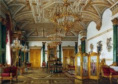 ornate opulent russian palace 18th century highly decorative