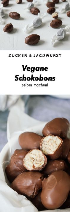 """Vegane Schokobons"" aka. milk chocolate covered eggs filled with hazelnut cream 