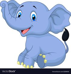 Cute baby elephant cartoon sitting vector image on VectorStock Baby Elephant Nursery, Cute Baby Elephant, Elephant Art, Cute Elephant Cartoon, Cute Cartoon, Animal Sketches, Animal Drawings, Baby Animals, Elephant Nursery