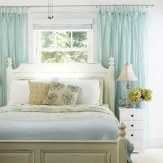 Stuck with a window behind ur headboard.... inspiration! It doesn't have to look bad