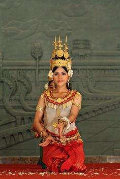 taken during a traditional cambodian dance