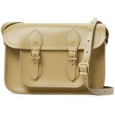 """The Cambridge Satchel Company Women's Small Leather 11"""" Satchel -... ($99) ❤ liked on Polyvore featuring bags, handbags, green, brown leather satchel, brown handbags, satchel purse, brown leather handbag and genuine leather handbags"""