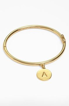 kate spade new york  one in a million  initial charm bracelet