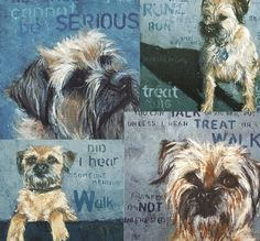 Mixed Pack: Art Card with Border Terrier (Pack of 4). £10.00, via Etsy.