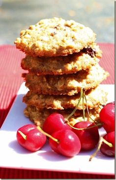 Chewy Cherry Oatmeal Cookies