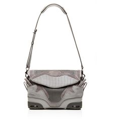 Alexander Wang Large Sneaker Sling In Light Concrete With Mesh ($1,395) ❤ liked on Polyvore featuring bags, handbags, shoulder bags, alexander wang purse, sling purse, color block handbag, shoulder sling bag y mesh purse