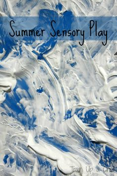 Fill up the play pool with shaving cream for some frugal summer sensory fun!