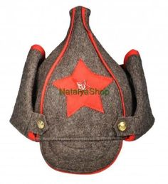 """Uniform-Cap-ARMY-USSR-Soviet-BUDENOVKA-Military-Soldier-Hat-Wool-Red-Star-Frunze; Budenovka A budenovka is a distinctive type of hat, an archetypal part of the Communist military uniforms of the Russian Civil War and later conflicts. Its official name was the """"broadcloth helmet"""".Named after Red cavalry commander Semyon Budyonny."""
