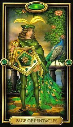 Page of pentacles, Gilded Tarot, by Ciro Marchetti Page Of Pentacles, Divine Tarot, The Sun Tarot, Witchcraft Books, Oracle Tarot, Tarot Card Meanings, Zodiac Art, Sacred Art, Tarot Decks