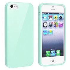 Amazon.com: eForCity TPU Rubber Skin Case Compatible with Apple® iPhone® 5 / 5S, Mint Green Jelly: Cell Phones & Accessories