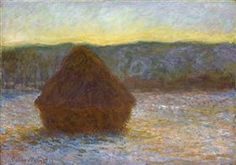 Grainstack, Thaw, Sunset - Claude Monet 1891