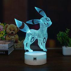 Pokemon Umbreon 3D Lamp USB Cartoon Night Light LED 7 Color 326f74d5b