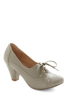 Right Here Heel in Grey | Modcloth $59.99 (I think these are also Chelsea Crews, but Modcloth didn't list the brand)