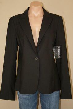 NWT New THEORY Dark Brown Single Button Curran Tailor Jacket Blazer sz 12 #Theory #Blazer