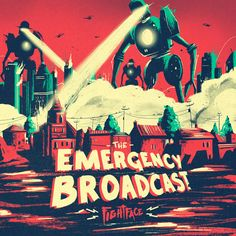 1f12c0db847 The Emergency Broadcast cover art by Marie Bergeron Graphic Design  Illustration