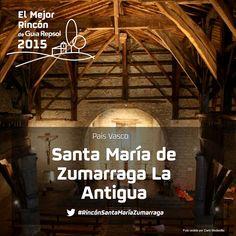 Es la catedral de las ermitas vascas. Por fuera, este santuario de Zumarraga (Gipuzkoa) es austero y apenas llama la atención. Pero, por dentro, es una fantasía de madera de roble antiquísima, como ver y andar por el interior de una nao medieval. Apoya al #RincónSantaMaríaZumarraga