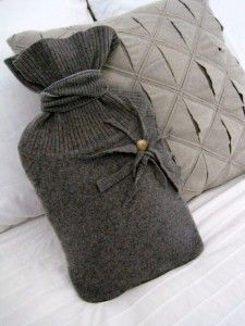 Hot Water Bottle cover from old Sweater. From Suitably Cool! Love this one!