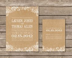 {invitations} white floral + craft paper - adapt to gray and white? Wedding Paper, Wedding Cards, Diy Wedding, Wedding Events, Dream Wedding, Wedding Ideas, Wedding Photos, Invitation Design, Invitation Cards