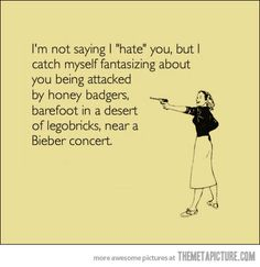 Not saying I hate you…