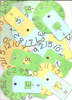Maths Multiplication Wheels- an easy to make tool for learning and reviewing mental math