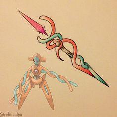 Pokeapon No. 386 - Deoxys. #pokemon #deoxys #psybolt #pokeapon