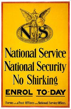 1917.National Service, British World War I Poster.16