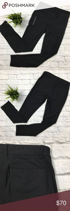 LULULEMON Bust A Move Pant Sz 6 LULULEMON Bust A Move Pant (B 39) Women SZ 6 BlacK These moto-inspired pants were designed for visibility and comfort on our daily commute. Durable Warpstreme fabric is treated with DWR (Durable Water Repellant) to help protect against light wind and rain, and flip-up reflectivity in the cuffs and back pockets  fabric is breathable and sweat-wicking hidden reflectivity in both cuffs and back pockets help keep you visible in low light  	fit: slim 	rise: medium…