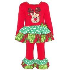 Give your daughter's wardrobe a festive touch with this Christmas reindeer dress…