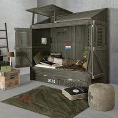 64226aa4d5a4eb Boys Army Bedroom, Military Bedroom, Army Room, Boys Bedroom Decor, Kid Beds