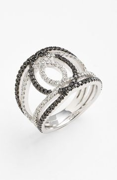 Bony Levy 'Double Interlock' Diamond Cocktail Ring (Nordstrom Exclusive) available at #Nordstrom