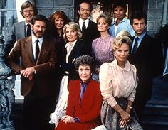 Cast of Falcons Crest, another nighttime soap popular at the same time as Dynasty.  Quit watching this one too.  Love the mixture of Eighties shoulder pads, Ralph Lauren Country styleand 80's glamor hair.