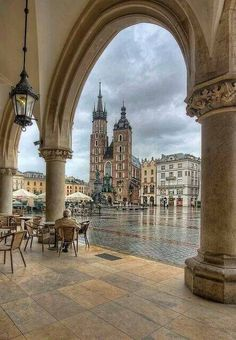 Old Town square in Krakow, Poland