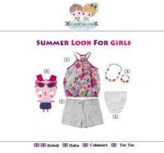 #Summer #look for #girls from  #Boboli #TucTuc #Haba #Calamaro.  Check at www.kidsandchic.com/girl    #girlsclothing #girlsfashion #kidsfashion #trendychildren #kidsclothing #shoppingbarcelona #tshirts #tops #shorts #knickers #yewerly #backpacks