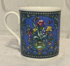 Royal Worcester Fine Bone China Coffee Mug Cup Tea Blue Flowers  #RoyalWorcester