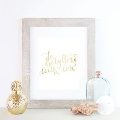 Gold Typography Quotes in Gold Text Home by PrintsbyJettyHome
