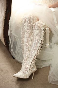 Couture Lace Wedding Boots by House of Elliot. Is it weird I want these for my wedding day??