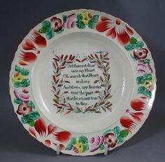"Childs plate, circa 1820    7½"" diameter"