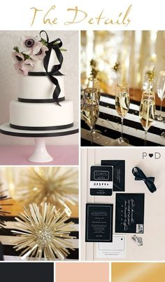 New Year wedding ideas and inspiration. Styling by www.pocketfulofdr...
