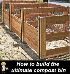 DIY Compost Bin - Great for Organic Gardening -